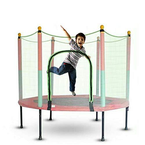 Trampolín de jardín, cama elástica infantil, juego completo de trampolín deportivo para exteriores, para niños