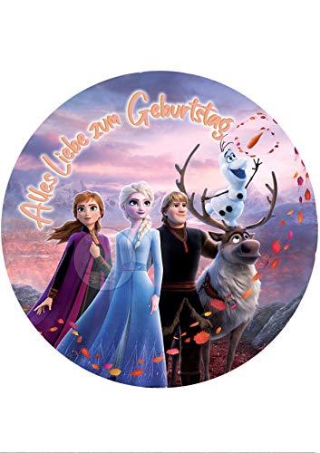 Tortenaufleger Tortenbild Geburtstag Frozen Die Eiskönigin Fondant 0240w