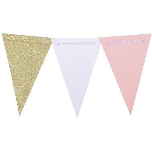 Marry Acting, Wimpelkette im Vintage-Stil, dreieckige Papier-Wimpel, für Hochzeiten, Baby-Party,...