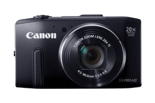 Canon PowerShot SX 280 HS Digitalkamera (12 MP, 20-Fach Opt. Zoom, 7,6cm (3 Zoll) LCD-Display, bildstabilisiert) schwarz