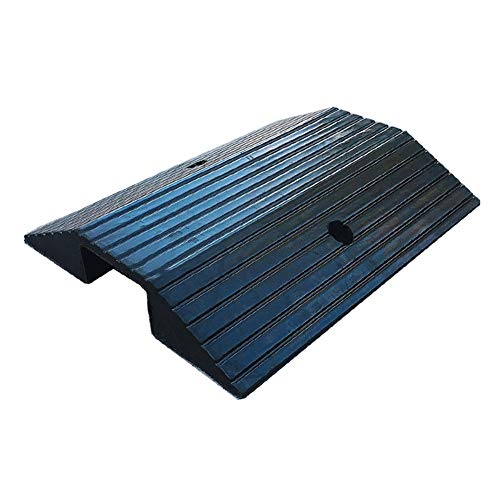 Dis-po Driveway Curb Ramps Rubber Road Along The Ramp, Car Uphill Steps Mat Deceleration Belt With Step Mat Black