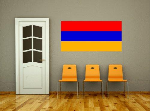 Kiwistar Wandtattoo Sticker Fahne Flagge Aufkleber Armenien 80 x 40cm
