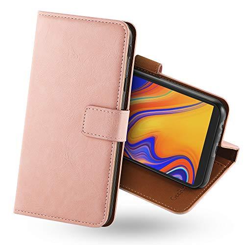 GeeRic kompatibel Für Samsung Galaxy J4 Plus 2018 Hülle, [Standfunktion] [Kartenfach] [Magnet] [Anti-Rutsch] PU-Leder Schutzhülle Brieftasche Handyhülle Kompatibel Mit Samsung Galaxy J4 Plus 2018 Rosa