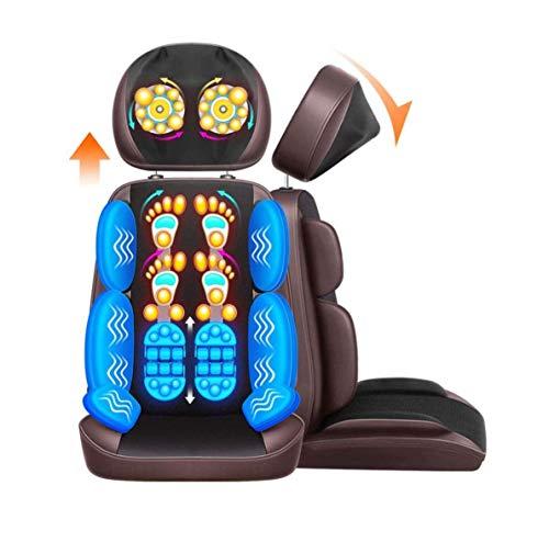 ZOUSHUAIDEDIAN Masajeador de cuello y espalda con máquina de silla de masaje de calor portátil, masajeador de silla de amasado for respaldo completo, cuello y hombro, alivio de dolor de cuerpo complet