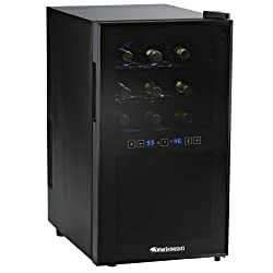 Wine Enthusiast Silent Two-Temp 18 Bottle Touchscreen Wine Cooler