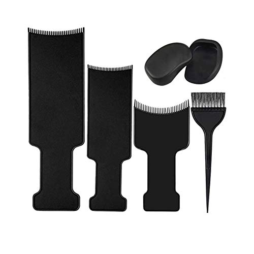 Balayage Highlighting Board and Brush Kit: 6Pcs Hair Coloring Set for Home and Salon Uses