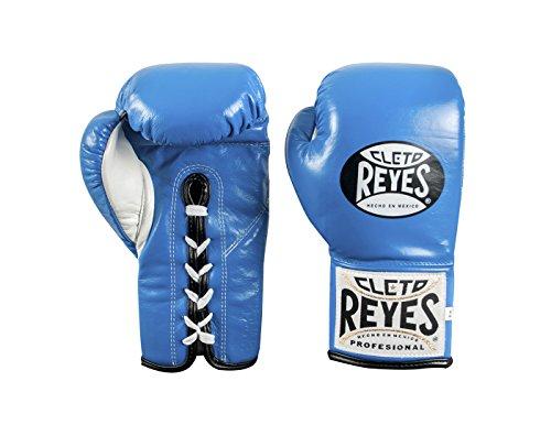 Cleto Reyes Offizieller Boxhandschuh mit Daumen, blau, 10 Ounce