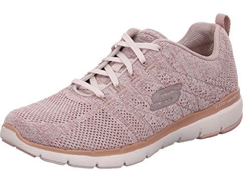 Skechers Damen Sneaker Low Flex Appeal 3.0 High Tides Altrosa 37