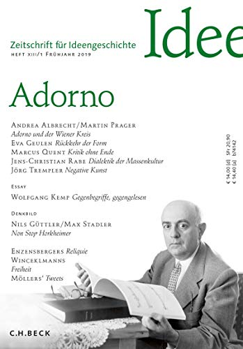 Zeitschrift für Ideengeschichte Heft XIII/1 Frühjahr 2019: Adorno