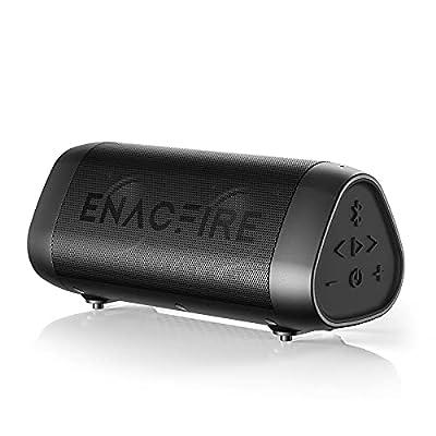 Bluetooth Speaker, ENACFIRE SoundBar Portable Wireless Speakers 25-Hour Playtime Crystal Clear Stereo Sound Enhanced Bass IPX7 Waterproof Speaker with Built-in Microphone by ENACFIRE