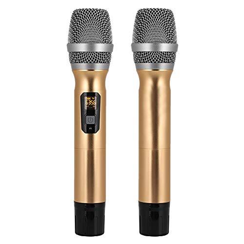 Micrófono de mano universal profesional, micrófono inalámbrico universal de modulación de frecuencia digital para TV de computadora