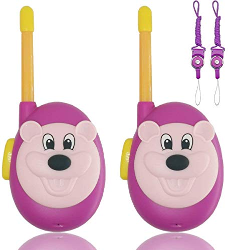 Walkie Talkies for Kids 2 Pack-Easy Operation Real Walky Talky for Boys & Girls Cute Toys Gifts,Durable Two Way Radio for Children Long Range (Pink+Pink)