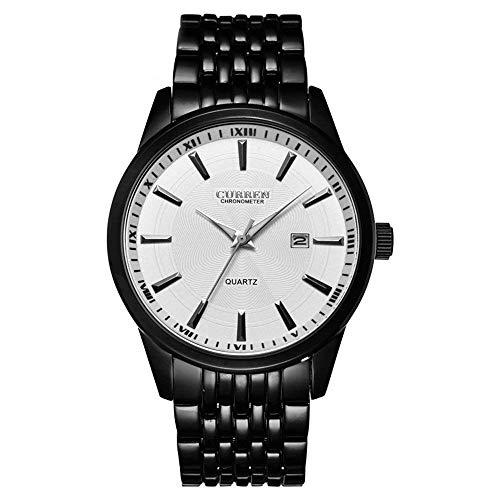 Curren Männer Sport Quarz Analoganzeige Uhr mit Datumsfenster Wasserdicht Edelstahlband 8052