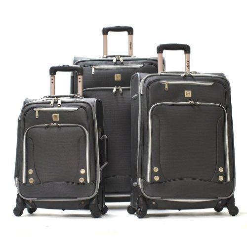 Olympia, Unisex-Erwachsene Koffer, Schwarz, AF-8900-3-Black-One Size