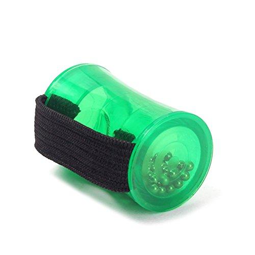 ULTNICE Mini Shaker per Strumenti Musicali a Dito per Ritmo di Musica in Verde