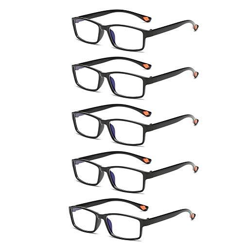 Un Pack de 5 Gafas de Lectura, Gafas de Presbicia con Filtro...