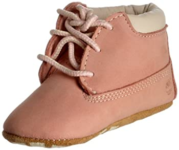 Timberland Crib Bootie and Hat  Infant/Toddler ,Pink Nubuck,1 M US Infant