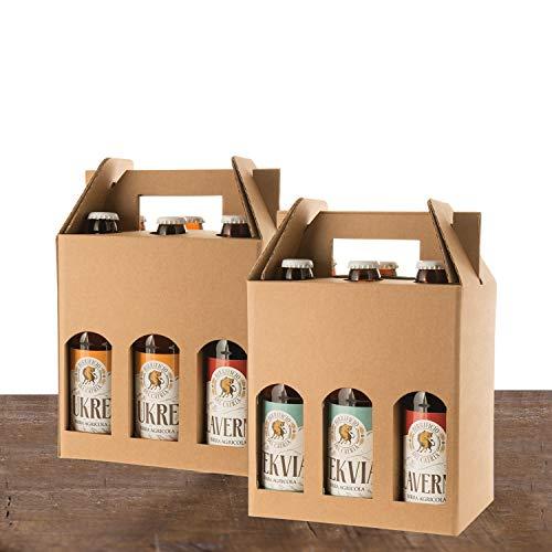 BIRRE CHIARE AMBRATE ROSSE - Artigianale Agricola - 12 bottiglie 33 cl - (2 KLAVERNIA dark strong ale + 2 HERIETUS double IPA + 3 TEKVIA ambrata + 3 UKRE bionda + 1 ECCE weiss + 1 GRABOVIA stout