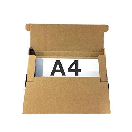 【A4厚み25mm】ネコポス用ダンボール箱 外寸312×228×25mm(紙厚2mm)【5枚セット】 クリックポスト ポスパケット ゆうパケット 飛脚メール便 定形外郵便