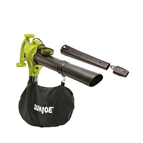 Sun Joe SBJ603E 13-Amp 240 MPH 3-in-1 Electric Blower/Mulcher/Vacuum, 32.7 Inch, Green
