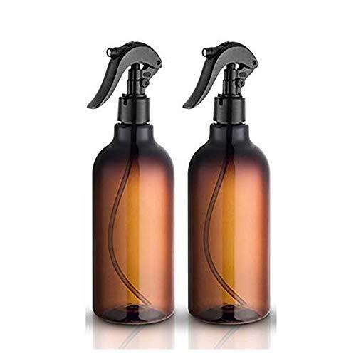 Felly Botellas de spray, 2 Unidades de 500 ml 16 oz Botellas de Spray vacías de plástico con pulverizador Fino Negro rellenable contenedor para aceites Esenciales, Limpieza, Cocina, jardín, Pelo