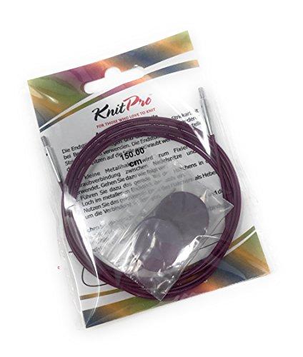 Knit Pro Seile + Endkappen + Schlüssel, verschiedene Längen (120 Zentimeter)