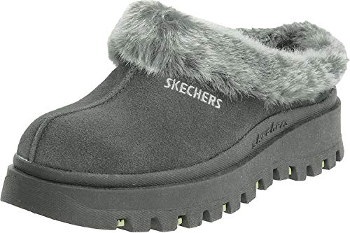 Skechers Women's Fortress Clog Slipper,Black,7.5 M US