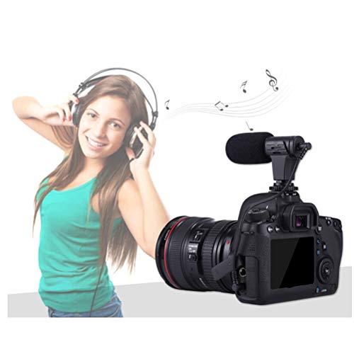 Microfone Puluz profissional para entrevista com espingarda estéreo, microfone condensador para fotografia e filmadora DSLR