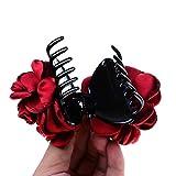 Inzopo Pince à cheveux en forme de fleur en soie avec nœud - Pour femme -...