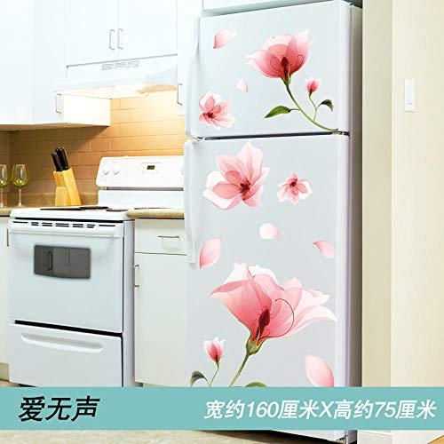 Kühlschrank Aufkleber kreative Cartoon dekorative Aufkleber Wandsticker Layout Tapete selbstklebend abnehmbare-1 Liebe ist still (Sammlung Priorität Lieferung) _Extra groß