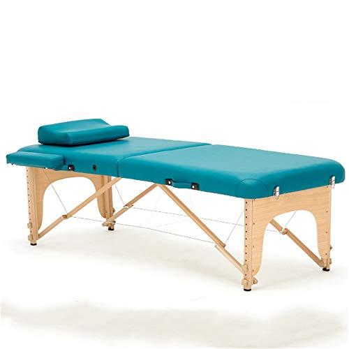 Tabla De Masaje 2 Sección Mesa plegable de madera de masaje portátil...