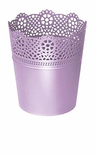 Couronne Dentelle Vase Pot De Fleurs En Plastique 9 couleurs
