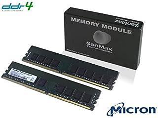 サーバー、ワークステーション向けECC付 U-DIMM(Unbuffered DIMM) Micron DRAM搭載 288pin DDR4-2400 CL17 16GB(8GB x 2枚)セット 1.2volt JEDEC準拠 1Rank x...