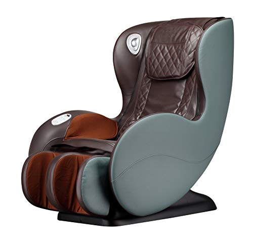FURLKHY Massage Chairs SL Track Full Body and Recliner, Shiatsu Recliner, Massage Chair with Bluetooth Speaker-Beige (Brown/Green)