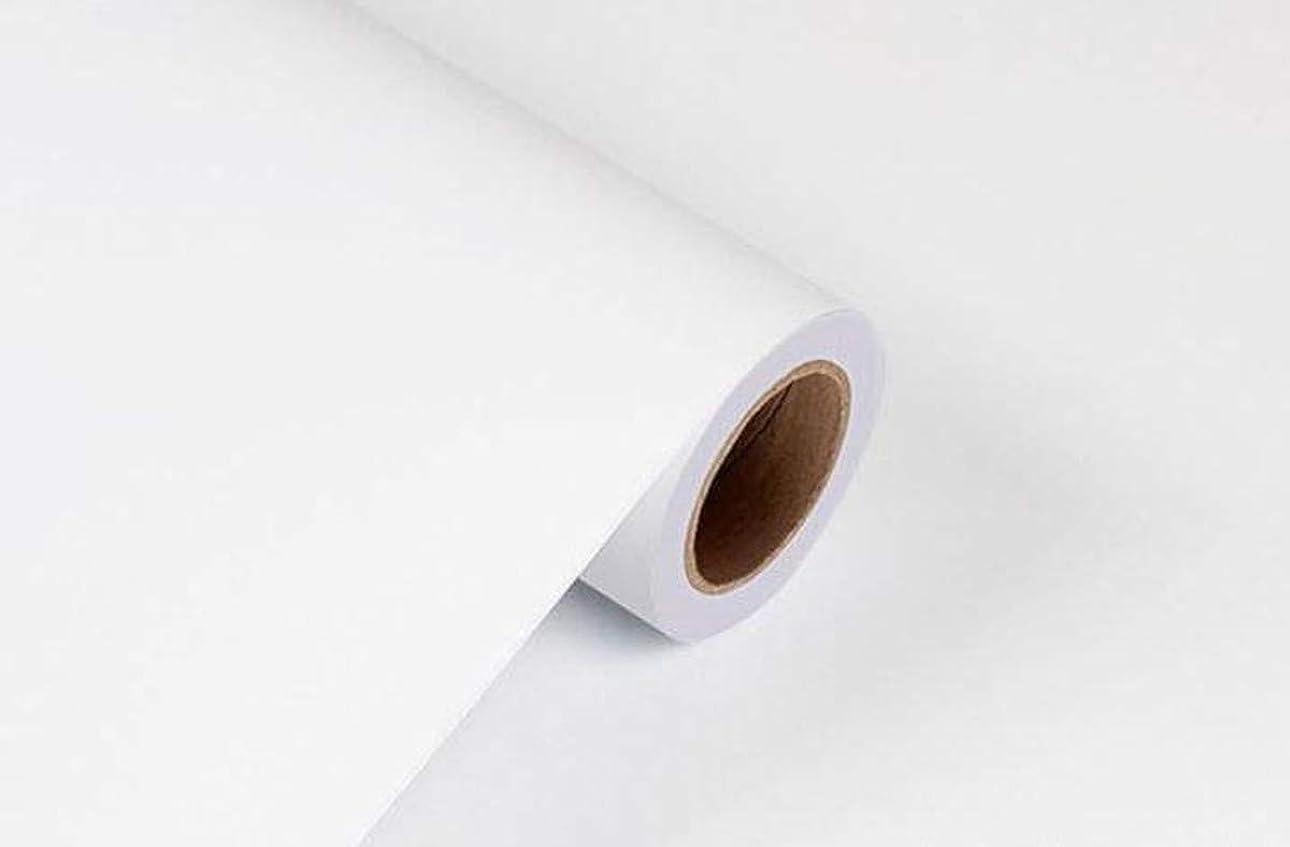 生きている申し立てる剥離BENQUE 壁紙シール 無地 3D DIY ウォールステッカー はがせる 防水 45cm×10M (2. ホワイト)