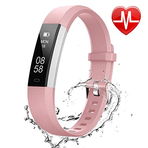 Lintelek Fitness Tracker, Slim Sports Activity Tracker with Heart Rate monitor, Step Counter,Sleep Monitor for Men Women Kids