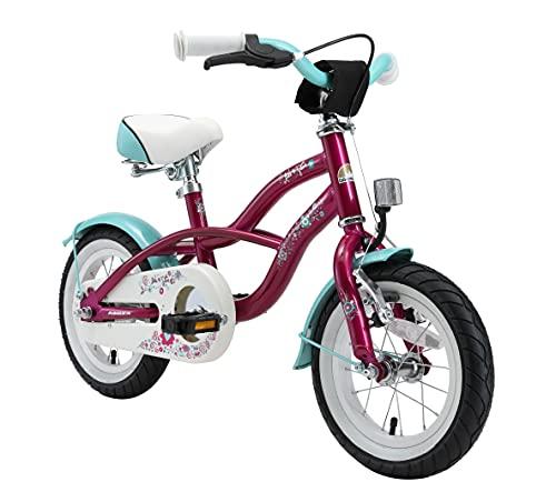 BIKESTAR Kinderfahrrad für Mädchen ab 3-4 Jahre   12 Zoll Kinderrad Cruiser   Fahrrad für Kinder Violett   Risikofrei Testen