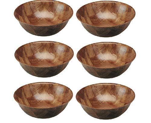 apollo THE HOUSEWARES BRAND Apollo Woven Wood Bowl 15cm, Multi-Colour,...