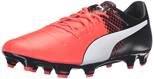 PUMA Men's Evopower 3.3 Tricks FG Soccer Shoe, Red Blast/Puma White/Puma Black, 9 M US