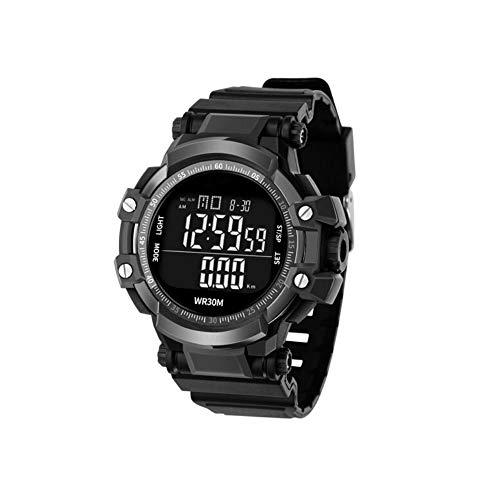 HENGXIANG Stopwatches, mannen intelligente mechanische automatische horloge timer, pols multi-functie fitness running stopwatch (zwart, blauw, groen)