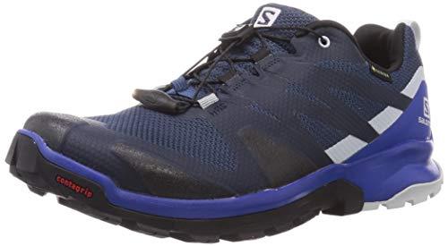 SALOMON Men's Xa Rogg Gore-tex Running Shoe, Dark Denim/Black/Pearl Blue, 7.5 UK