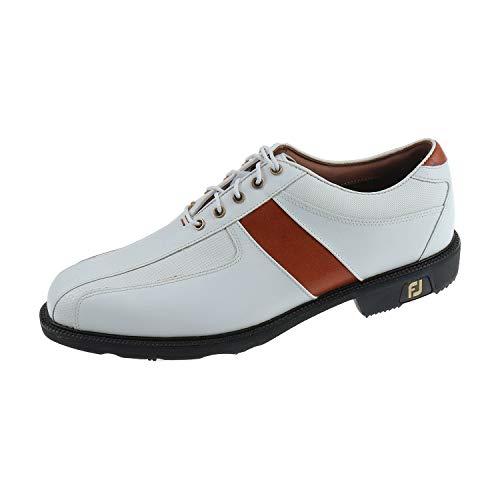 FJ Icon Herren Schuhe Sportschuh Golfschuh Weiß Braun 52062K (42 EU)