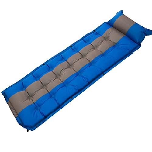 Rengzun Esterilla Inflables Camping, Colchoneta Hinchable para Dormir Ultraligera, Colchón de Aire Plegable Impermeable con Almohadas para Viajes, Exteriores, Senderismo, Playa