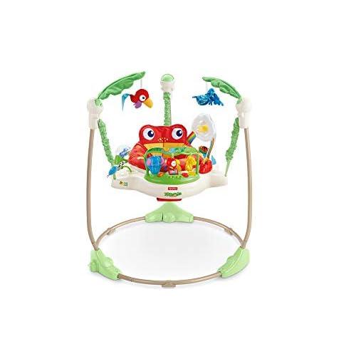 Fisher-Price Centro Attività Saltella e Gioca Amici della Foresta, Ranocchio, per Neonati con Musica e Luci, Multicolore, K7198