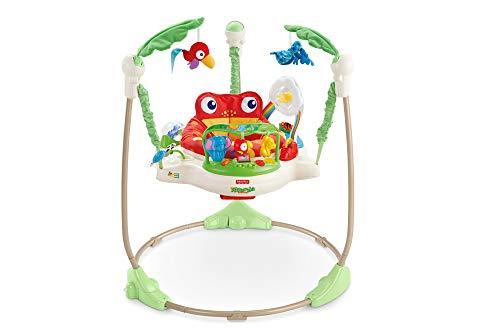 Fisher-Price Centro Actividad Salón y Juegos Amigos del bosque, Ranojo, para recién nacidos con música y luces, multicolor, K7198