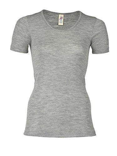 Engel Damen Kurzarm Unterhemd,Grey Melange,EU 42/44