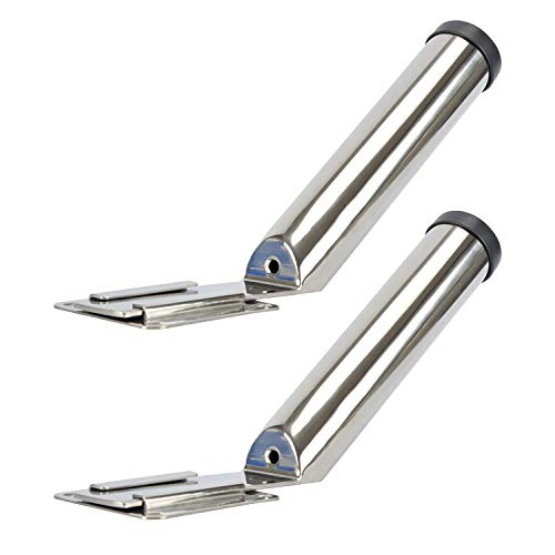 Amarine Made Set of 2 Stainless Steel Slide Mount Removable Fishing Rod Holder
