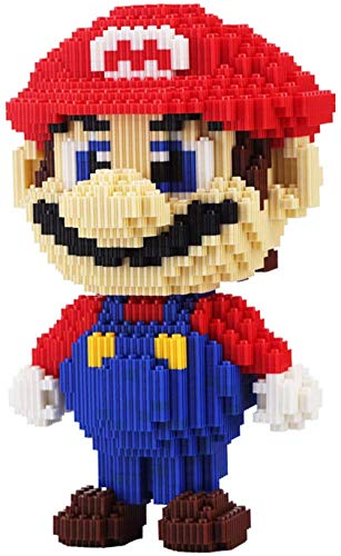 FJJF Super Mariolys Rot Grün Mary Mini Partikel Bausteine Yoshi Anime DIY Modell Ziegel Spiel Kinderspielzeug Kinder Sets Kid Box Geburtstagsgeschenk-B.