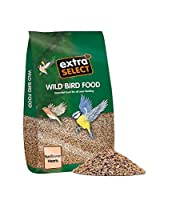 Complementary wild bird seed Bakery grade kernels Suitable feed from feeder or table Husk free VAT Free Natural Products Extra value from Extra Select Range Regular source of nourishment for the whole year for all wild birds Also available in various...