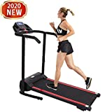 Folding Treadmill - Foldable Electric Treadmill with Auto incline for Home Gym, Office, Apartment - Shock-absorbing Mechanical Treadmill - Portable Fitness Walking/Running Trainer with LCD Display